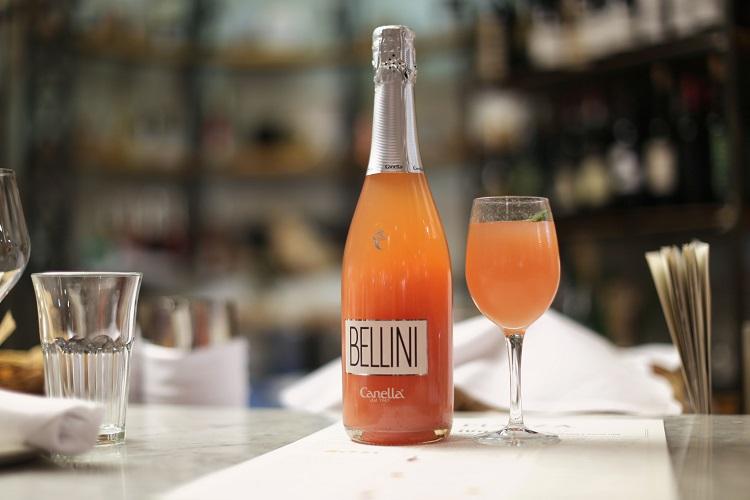bellini, bebida, botella, marca, venecia,