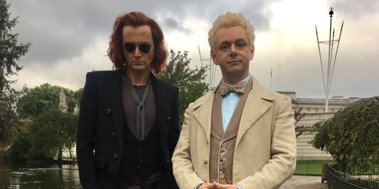 buenos presagios, good omens, terry pratchet, neil gaiman, david tennant, Michael Sheen, tv series,