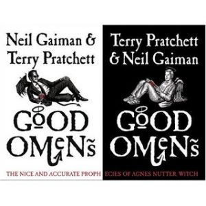buenos presagios, good omens, terry pratchet, neil gaiman, cover, portadas, libro, good vs evil,